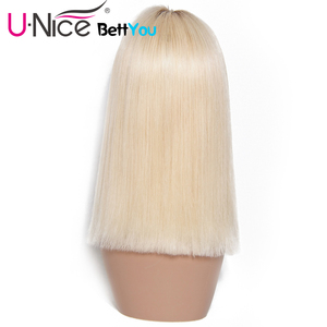 Image 4 - Unice Hair Bettyou Wig Series T4 613 Lace Wig For Black Women Ombre Blonde Lace Front Wigs Pre plucked Straight Human Hair Wigs