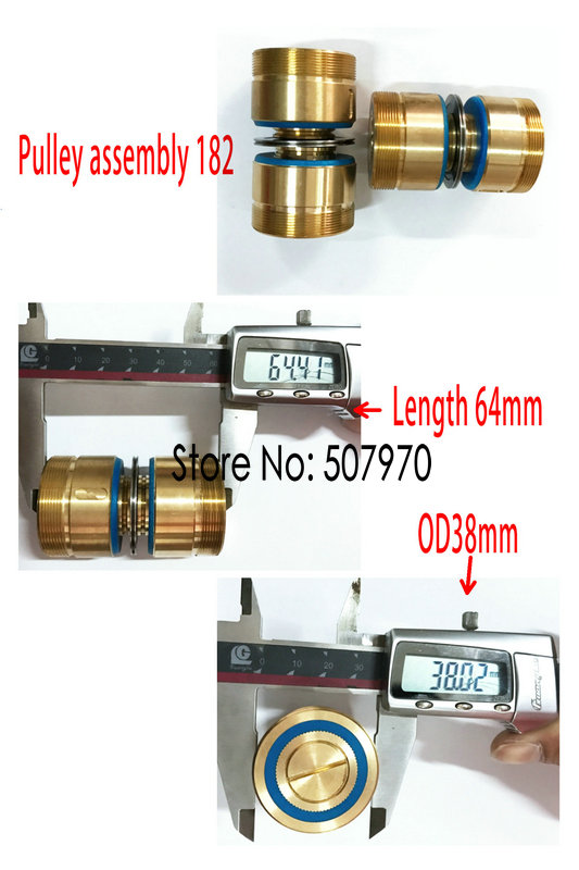 High Quality Pulley Assembly 182 OD38mm Length 64mm or 64mm for Wire Cut Machine