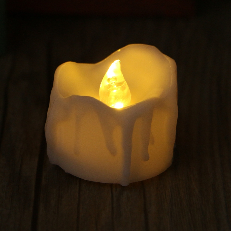 LED Tear Drop Flameless Candles With Warm White Flickering Flashing Light Home Decor