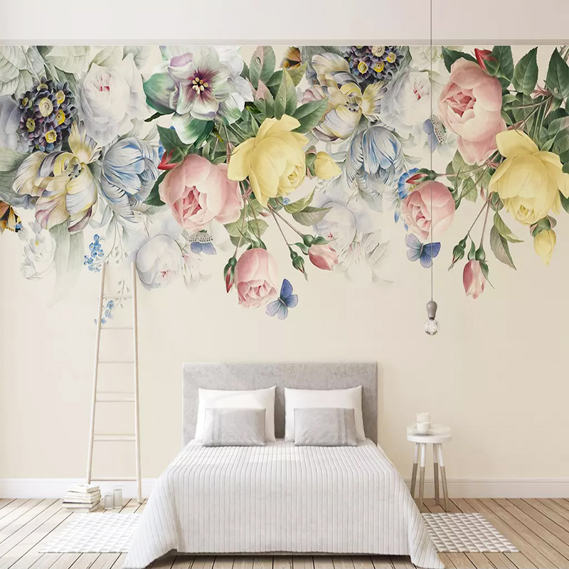 Custom Photo Wallpaper 3D Flowers Painting Murals Living Room Bedroom Wedding House Background Wall Papers For Walls 3 D Decor