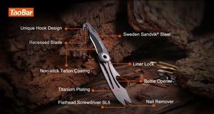 Image 2 - NEXTOOL Multi function Box Opener Box Cutter Mini Rescue Knife Taobar