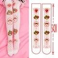 2017 HOT Japanese harajuku lolita stocking lolita fresa rosa medias de las muchachas lindas del estudiante leggings ca319 7 estilos