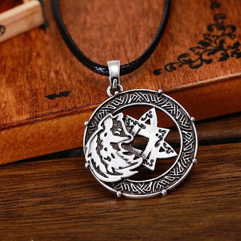 Wolf Totem สัญลักษณ์ Lada จี้ Amulet โบราณ Slavic Pagan เครื่องประดับวัยรุ่นหมาป่าจี้ Talisman
