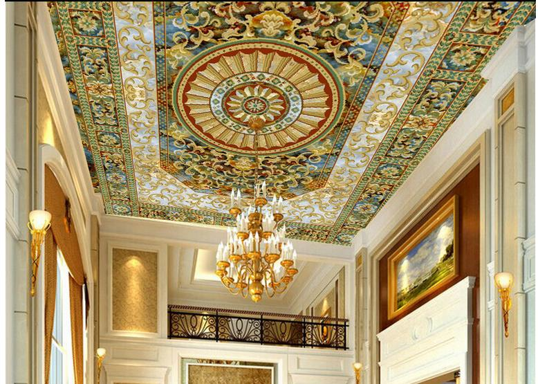 Buy ceiling wall decoration mural 3d for Ceiling mural wallpaper