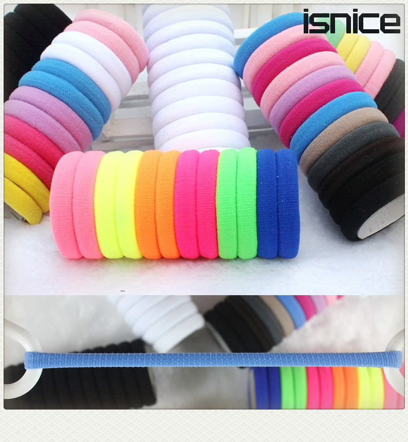 TS 50pcs/lot Candy Colored Hair Holders High Quality Rubber Bands Elastics Hair Accessories Girl Tie Gum haar headwear for women