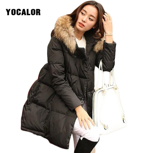 a25976db599 Winter Jacket Plus Size 5XL Fur Collar Hood Thick Female Snow Wear Parka  Women Long Cotton Padded Coat Clothes Quilted Outerwear