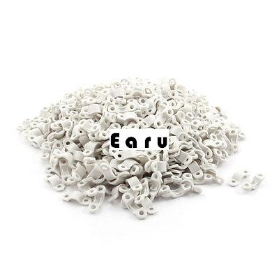 500Pcs 3.5mm Dia White Plastic Cable Clamp Wire Tube Hose Fastener plastic coated metal hose 6410 mi stringing electrical conduit cable wire protection tube jiahouxing