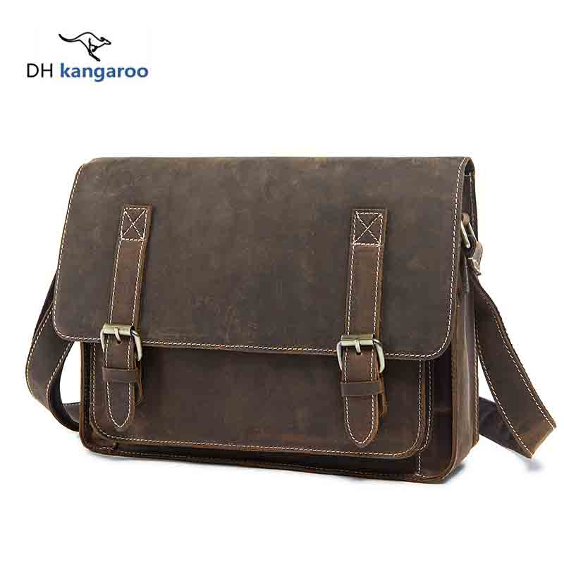 Cow Genuine Leather Men Bag Male Fashion Bags Small Shoulder Crossbody Bags Handbags Casual Messenger Flap Leather Brand 201 contact s genuine leather men bag male shoulder crossbody bags messenger small flap casual handbags commercial briefcase bag