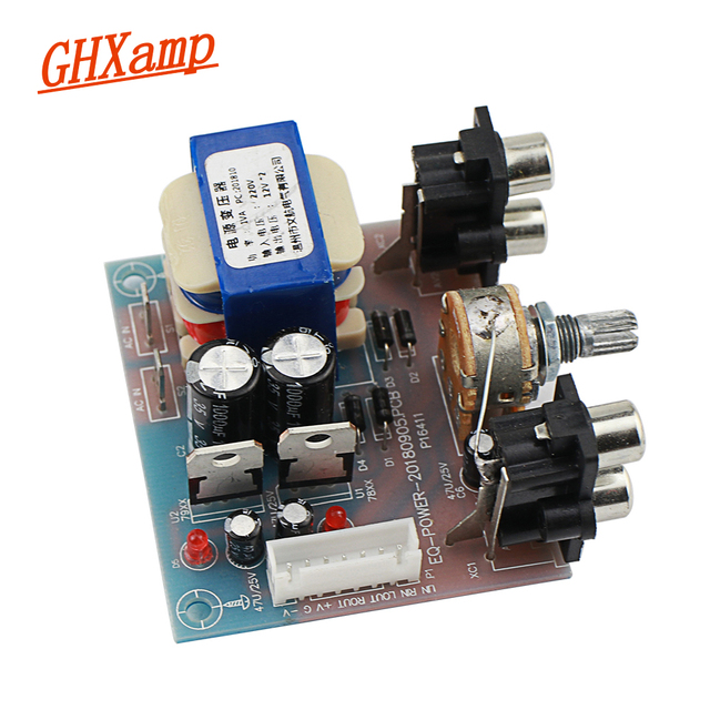 GHXAMP Equalizer Power Supply Board With Volume Control Preamp Plane Dual Power Regulated Output 5V