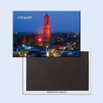цена на Tourist Refrigerator Magnets 78*54mm,Dom-Tower-Cathedral-Of-Saint-Martin-Utrecht-Netherlands Souvenir Fridge Magnets 20748
