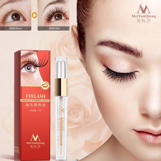 Alta calidad MeiYanQiong maquillaje líquido crecimiento de las pestañas alargador Serum cuidado de la piel ojos pestañas extensiones pestañas tratamientos