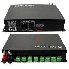 цена на DMX 512 Digital Signal Controller 24CH RGB LED Light Decoder Dimmer DC 12V-24V