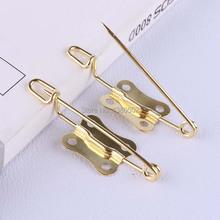 30pcs /lot Gold safety pins 30*11mm unique design DIY Sewing Tools