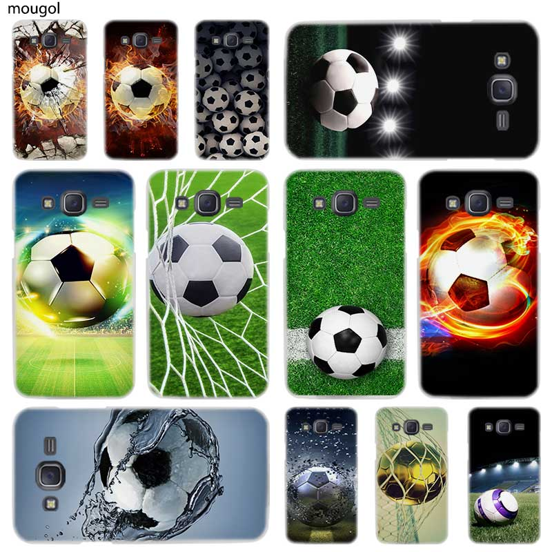 Half-wrapped Case Objective Mougol Fire Football Soccer Ball Hard Phone Case For Samsung Galaxy J3 J8 J2 J7 J5 J6 2015 2016 2017 2018 Eu J2 Pro Ace J7 J3 Cheapest Price From Our Site