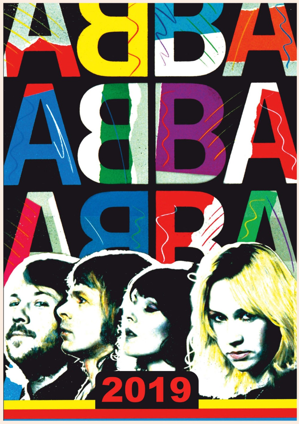ABBA Vintage Music SILK POSTER Wall Painting 24x36inch