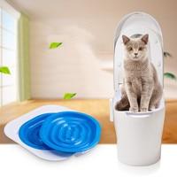 Hoge kwaliteit 40*40*3.5 cm ABS Pet Toilet Trainer Puppy Kattenbak Kattenbakvulling Trainer katten CeaningTrainingToilet Levert huisdier Product