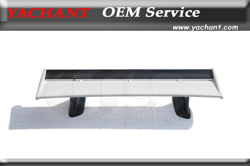 Fiber Glass FRP Rear Spoiler Carbon Blade and Carbon Jun Higher Legs Fit For 99 02