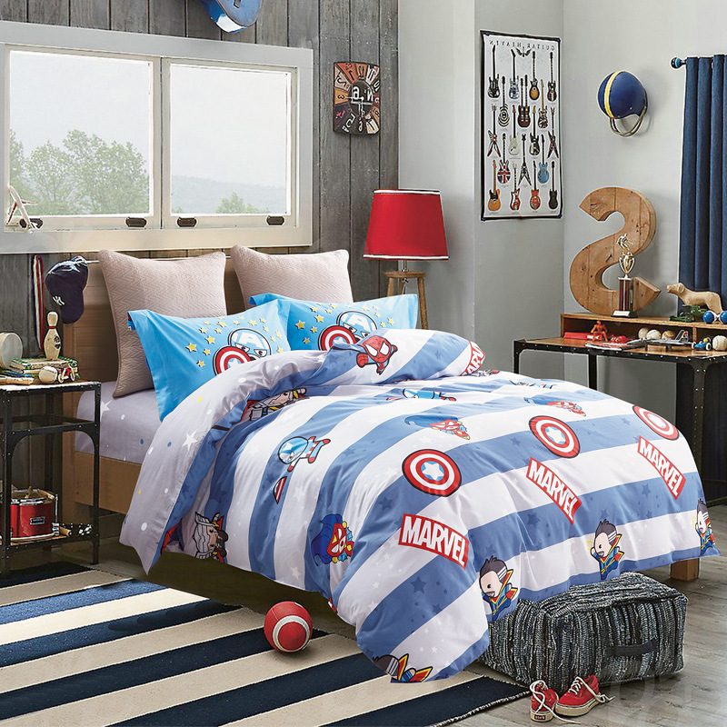 100%Cotton Marvel Children Mickey Minnie Mouse Bedding Sets  Soft Cartoon Quilt Cover Pillowcase Bed Sheet Bed Linen  girl boy100%Cotton Marvel Children Mickey Minnie Mouse Bedding Sets  Soft Cartoon Quilt Cover Pillowcase Bed Sheet Bed Linen  girl boy