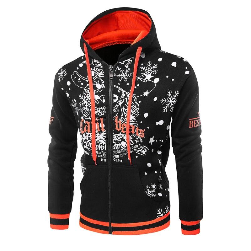 2ba662de0ac0 Sweatshirts Men New Mens Zip Up 3d Hooded Hoody Jacket Fashion Santa Claus  Clothing Printed Male Top Outerwear Casual Sweatshirt