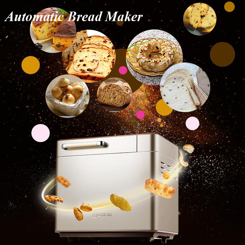 New Type !!! Home Use Full-automatic Bread Maker Multi-function Intelligent Bread Baking Machine DL-TM018
