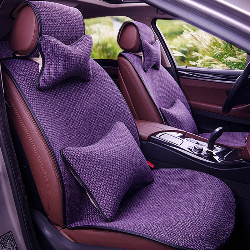 Yuzhe Linen car seat cover For Volkswagen vw passat b5 b6 b7 polo 4 5 6 7 golf tiguan jetta touareg accessories styling cushion car seat cushion three piece for volkswagen passat b5 b6 b7 polo 4 5 6 7 golf tiguan jetta touareg beetle gran auto accessories