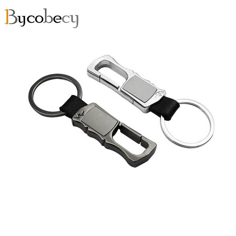 Bycobecy DIY EDC Key Holder Aluminum Alloy Keychain Flexible Key Holder Clip Men 2021 New Key Holder Car Keys Wallets Organizer