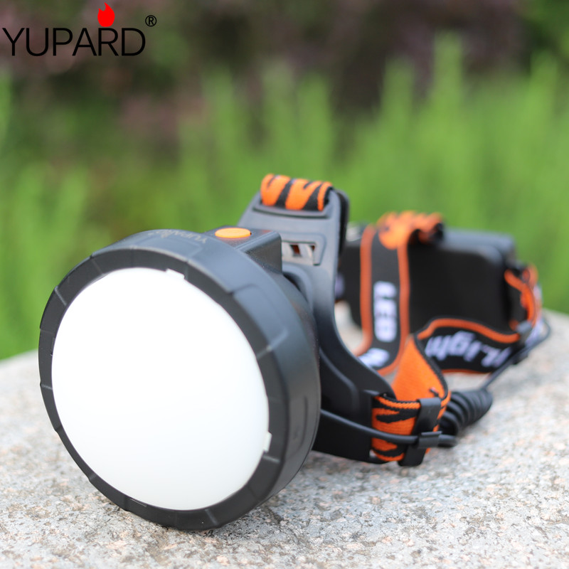 YUPARD bright power XM-L T6 led HeadLight 18650 rechargeable battery camping Head Light including Lightsphere