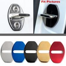 4Pcs Car Door Lock Protective Cover For Volkswagen Golf Eos Beetle Polo Touran Santana Sagitar Magotan Doorlock W/Das Auto Logo