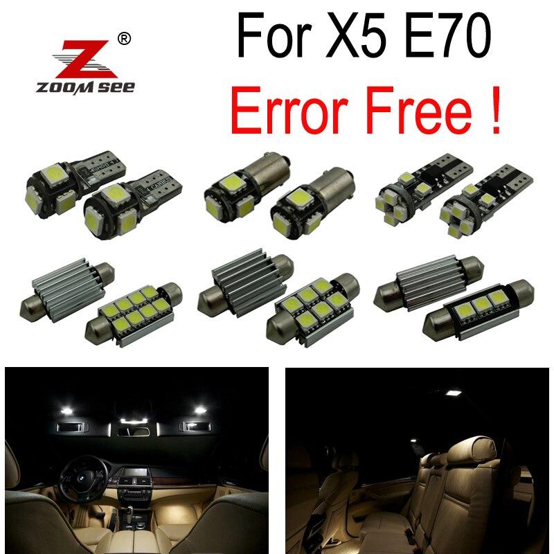 23 pcs LED plaque D'immatriculation lampe + Intérieur Lumière Kit complet pour BMW X5 E70 M xDrive 30i xDrive30i M xDrive35d 35i 48i 50i (2007-2013)