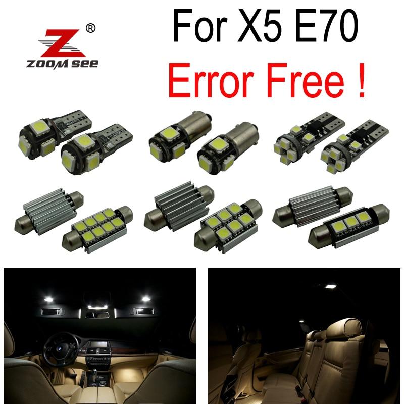 23pcs LED 번호판 램프 + BMW X5 E70 M xDrive 30i xDrive30i M xDrive35d 35i 48i 50i (2007-2013)를위한 실내 빛 가득 차있는 장비