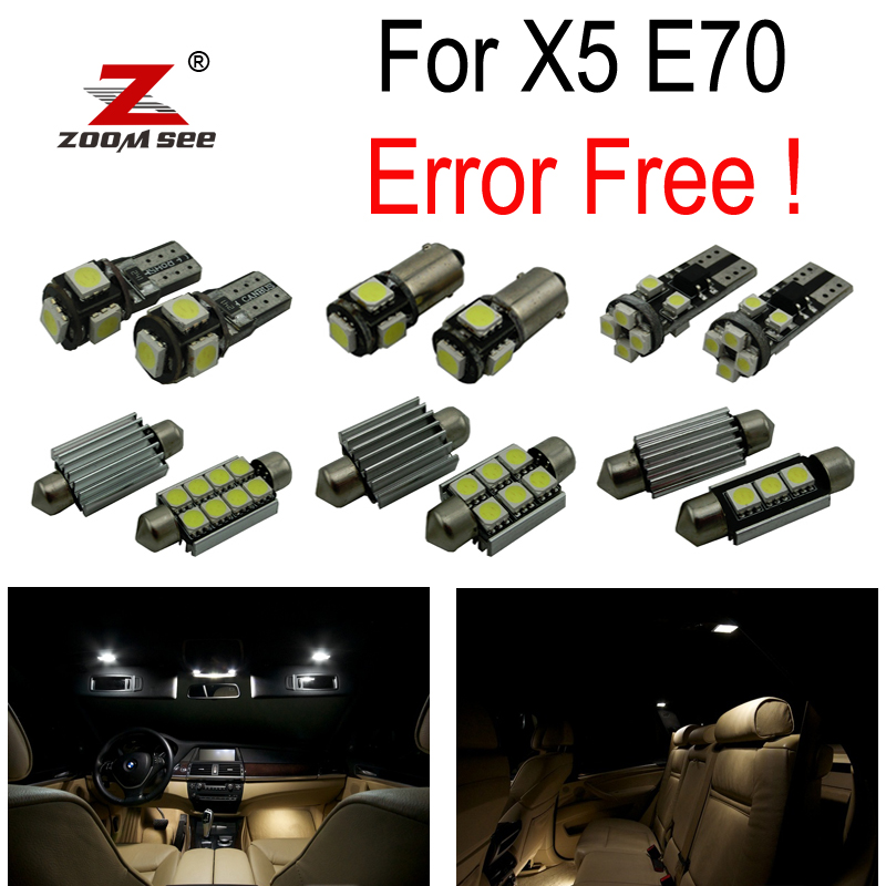 23pcs LED License plate lamp + Interior Light full Kit for BMW X5 E70 M xDrive 30i xDrive30i M xDrive35d 35i 48i 50i (2007 2013)