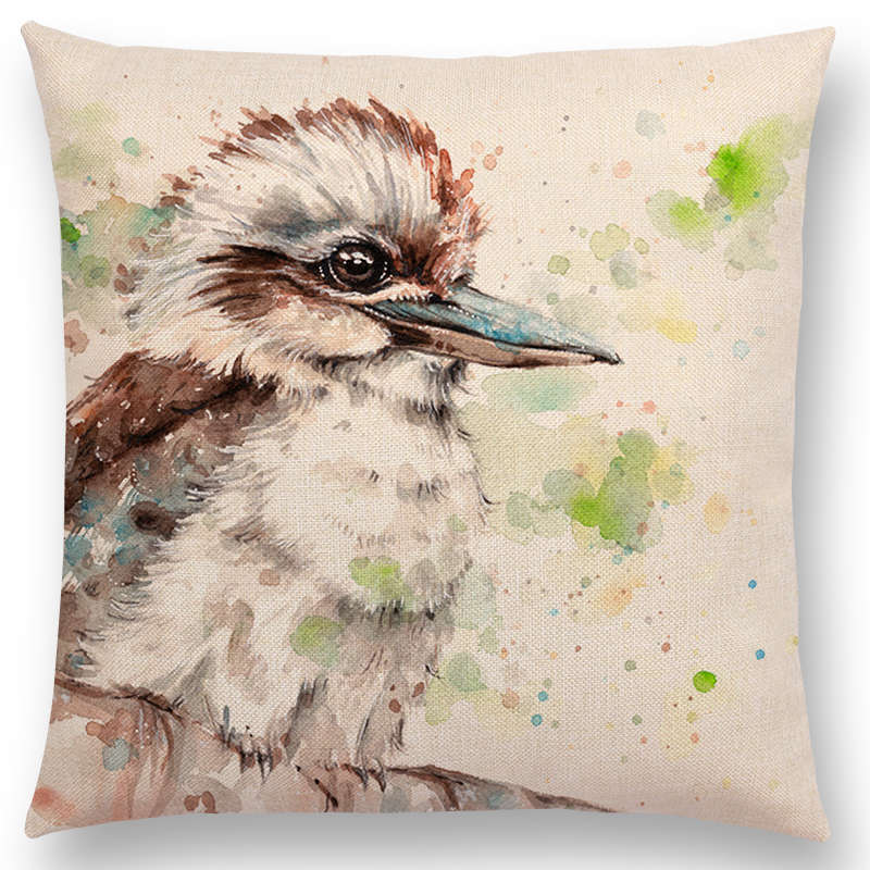 Watercolor Lion Flowers Butterfly Lane Cushion Cover Pillow Case Home Decor