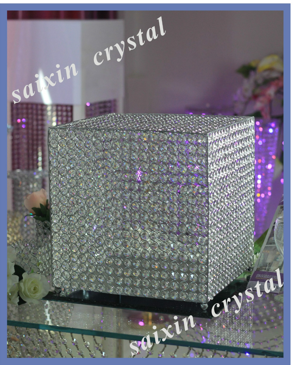 wedding money box with crystal beads simple and generous design