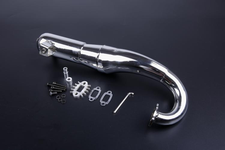 Side Mount Chrome Steel Hi Performance Tuned Pipe with Silencer  Fits HPI Baja 5B 5T SS King Motor double 2 spring clutch 7000rpm clutch assembly with alloy clutch mount fits 23 30 5cc gas engine zenoah cy hpi baja 5b ss 5t 5sc