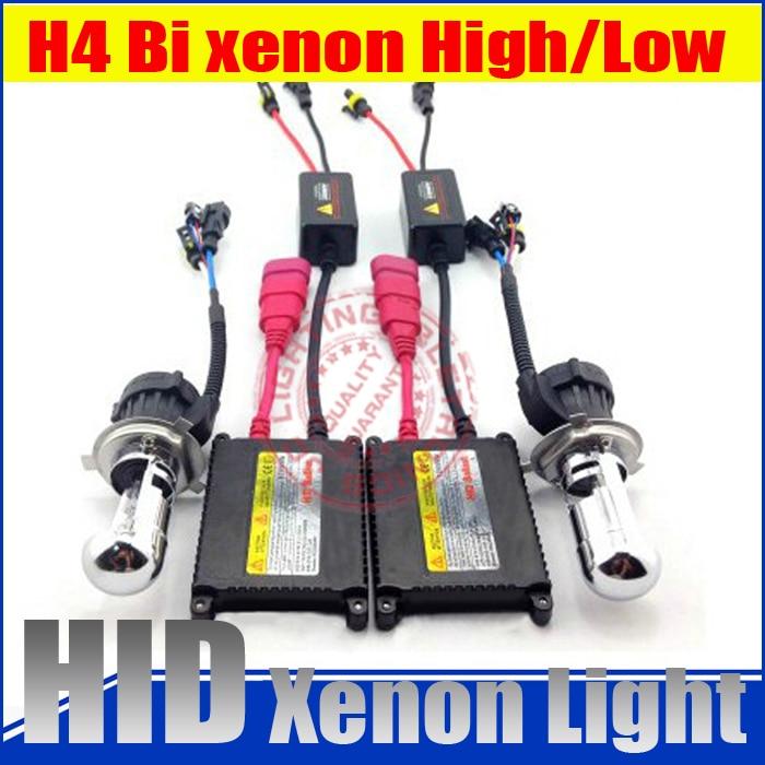 ФОТО High quality !! slim blocks hid conversion kit h4 bixenon high/low beam xenon light 12v 35w car lamp H/L Beam bi xenon