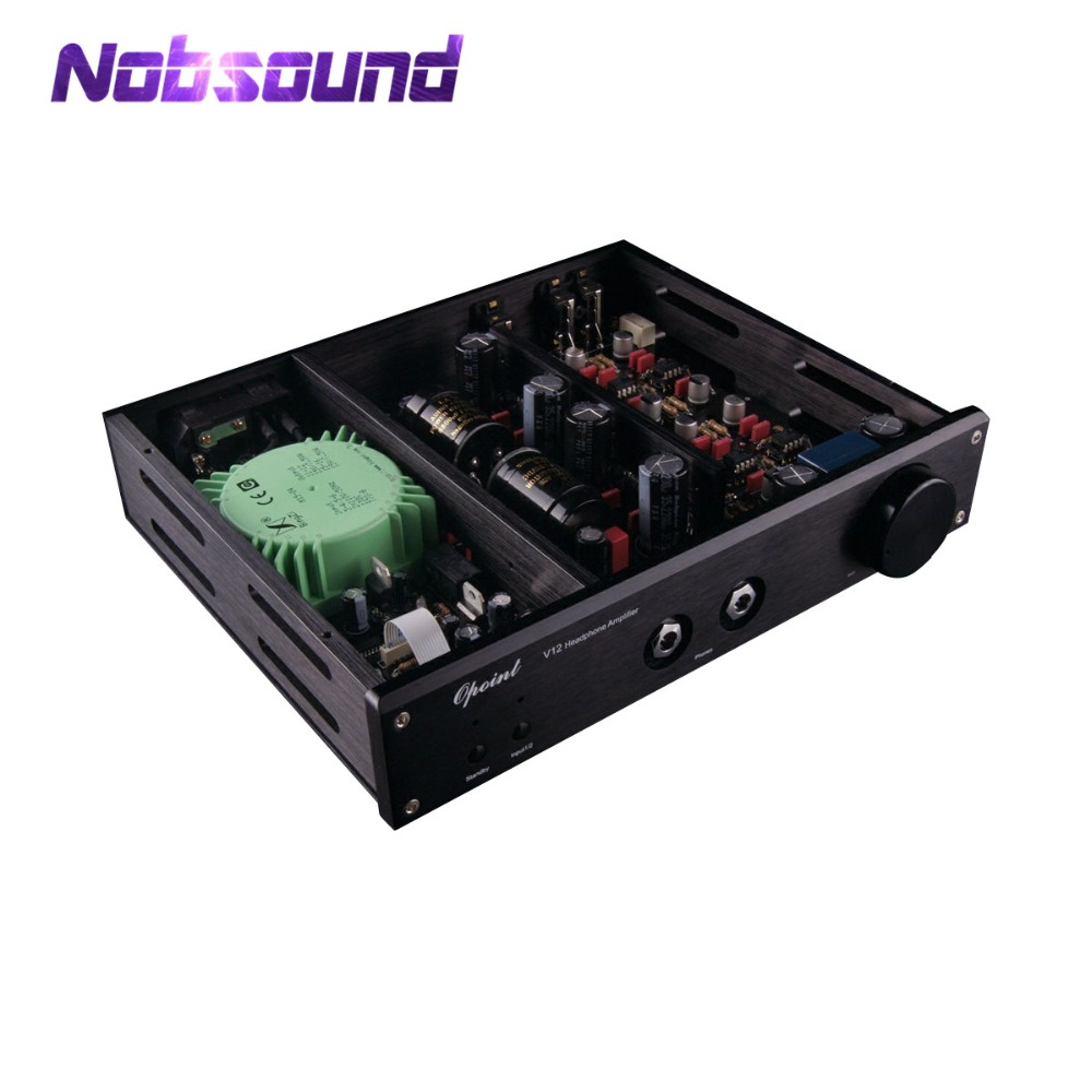 Nobsoud Single ended Class A Power Amplifier Stereo HiFi Desktop Headphone Amp Audio Pre-amplifier Black Chassis l passam gold field effect transistor audio power amp single ended class a 2 25w hifi amplifier