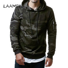 Laamei 2019 Mens Camouflage Sweatshirts Pullover Fleece Hooded Sweatshirts Male Clothing Printed Hooie Fashion Military Hoody(China)