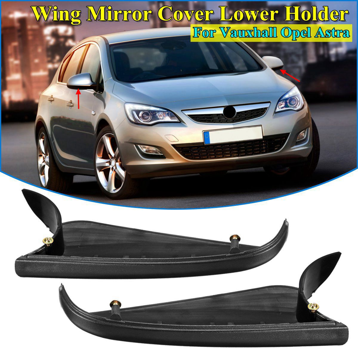 For Vauxhall Astra H Mk5 Van 06-09 Electric Black Wing Mirror Drivers Side