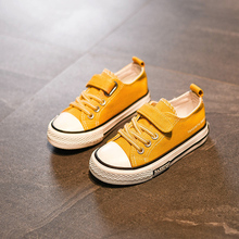 Childrens canvas girls shoes 2019 new summer Korean version of the wild boys tide