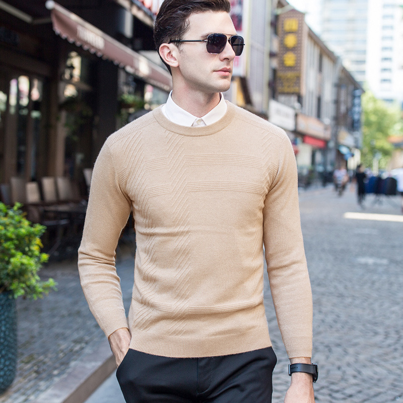 2017 Winter New Arrivals Thick Warm Sweaters O Neck Sweater Men Brand Clothing Knitted 96.3% Cashmere Pullover Men