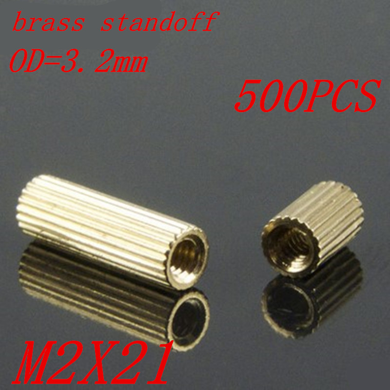 100pcs M2 x 21 M2*21mm brass standoff round spacer female to female thread carli mpx40 100 21