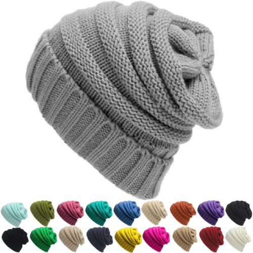 d09cbfce45169 US $1.98 49% OFF Hirigin Women's Knit Slouchy Warm Winter Beanie Oversized  Thick Cap Hat Unisex Slouch Many Colors NEW-in Skullies & Beanies from ...