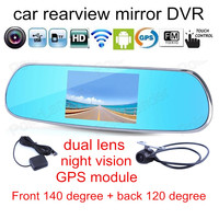 5.0 inch Touch for Android 1080P Dash Camera Parking Rearview Mirror Video Recorder Car DVR Dual Camera GPS navigation module