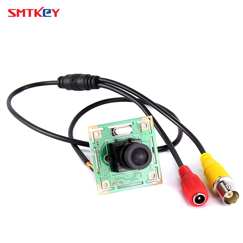 7040 700tvl CMOS Color Hd Board Cctv Camera Cctv Mini Camera With 3.6mm Lens With Lens Mount With Cable  Security Camera SMTKEY