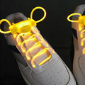 Cool Flash Light Up Shoelaces LED Sport Shoe Laces Shoestrings 1 pair Glow Stick Strap Worldwide sale