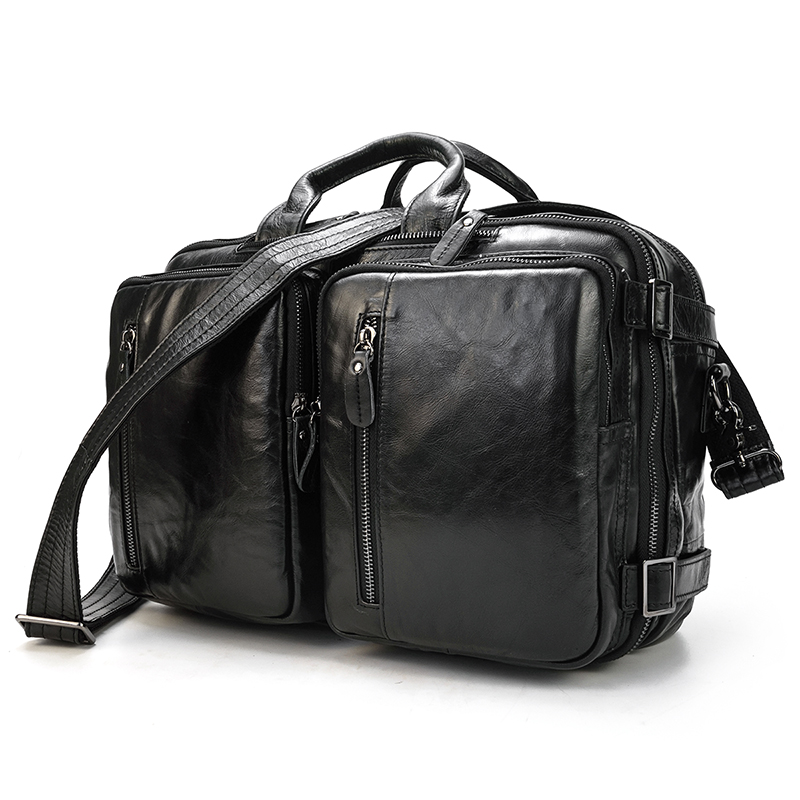Luufan Genuine Leather Business Bag 3 In 1 Multifunction Briefcase For Laptop Daily Office Bags For Men Women Pouplar Designer