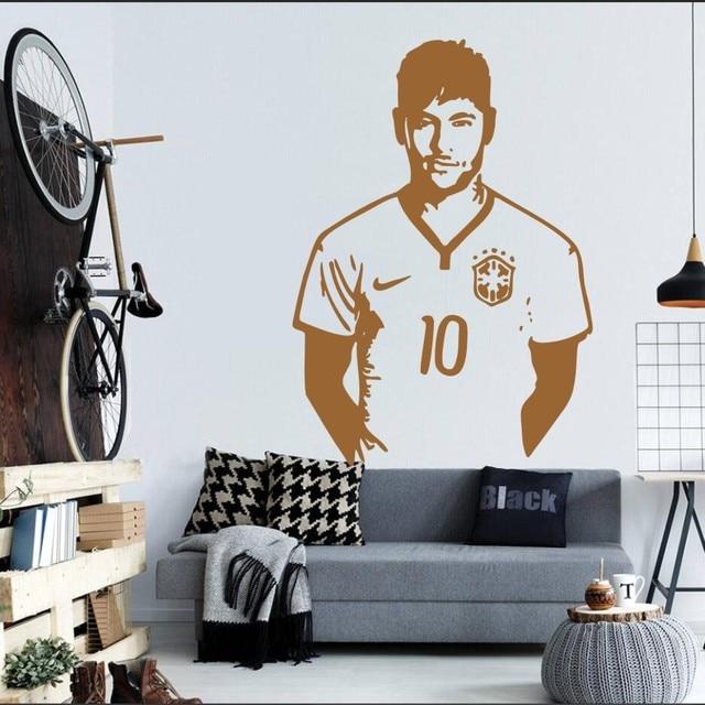 Da Silva Neymar Barcelona Brazil Football Pemain Wall Stiker Dinding
