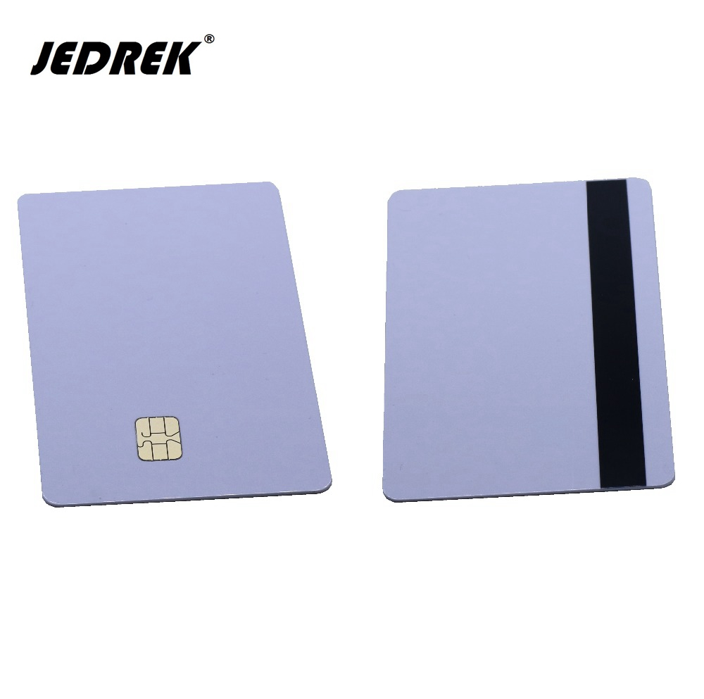 2 in 1 Blank 4442 Magnetic Contact IC Chip Card With SLE 4442 Chip &With Hico Magnetic Stripe Smart Card Combi-card 20pcs lot contact sle4428 chip gold card with magnetic stripe pvc blank smart card purchase card 1k memory free shipping