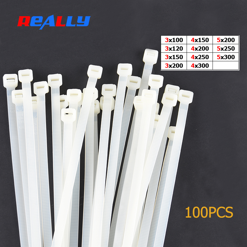 120mm x 3mm Nylon cable ties x100