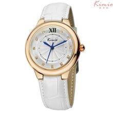 KIMIO Marca de Lujo Mujeres Rhinestone Relojes de Moda Correa de Cuero Reloj Casual Señoras del Reloj de Cuarzo Reloj Relogio Feminino